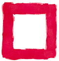 Red watercolor square frame border white copy space abstract artistic Stock Photo
