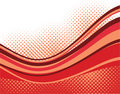 Red waves background Stock Photos