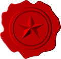 Red wax star Royalty Free Stock Photography