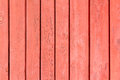 Red weathered wooden wall Royalty Free Stock Photography