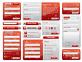 Red web form design christmas edition Stock Images
