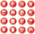 Red web icons, buttons Royalty Free Stock Photo