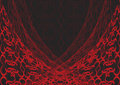 Red web lace on black Royalty Free Stock Images