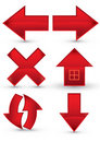 Red web navigation icon Royalty Free Stock Photo