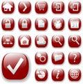 Navigace webové stránky sada skládající se z ikon