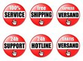 Red web page buttons  Stock Image