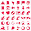 Red Web Stickers Icons [2] Stock Image