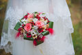 Red wedding bouquet Royalty Free Stock Image