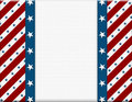 Red and White American celebration frame Royalty Free Stock Photo