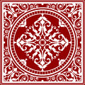 Red and white asian rug vector Stock Image