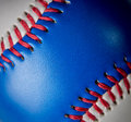 Red white and blue baseball closeup background Royalty Free Stock Photos