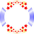 Red white and blue circle background frame Royalty Free Stock Photo