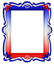 Red, White, and Blue Frame Border Royalty Free Stock Photo