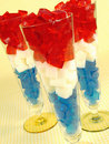 Red, White, & Blue Gelatin Stock Image