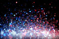 Red white and blue glitter background Stock Photo