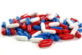 Red White and Blue Pills Royalty Free Stock Photo