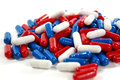 Red, White and Blue Pills Royalty Free Stock Photo