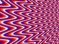 Red-white-blue rippled fractal background Royalty Free Stock Photo