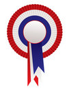 Red white blue rosette awards Stock Photography