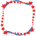 Red white a blue star border Royalty Free Stock Photo