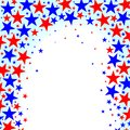 Red White And Blue Stars Abstract Background Royalty Free Stock Photo