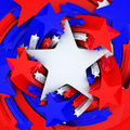 Red white and blue stars d render Royalty Free Stock Images