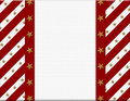 Red and White celebration frame with stars Royalty Free Stock Photo