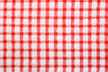 Red and white checked pattern cloth Royalty Free Stock Photo