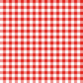 Red and White Checkered Fabric Stock Images
