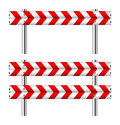 Red and white construction barricade on Royalty Free Stock Photography