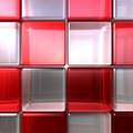 Red and white cubes Royalty Free Stock Image
