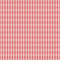 Red and White Damask Seamless Pattern Stock Photography