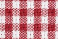 Red and White Gingham Checkered Macro Background Royalty Free Stock Photo