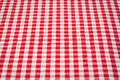 Red white gingham tablecloth background Royalty Free Stock Image
