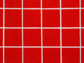 Red and white gingham tablecloth pattern close up Stock Photos