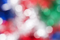 Red white green and blue circle background bokeh abstract Stock Images