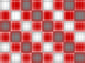Red white grey plaid design Stock Photos