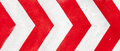 Red and white grunge warning stripes background Royalty Free Stock Photo