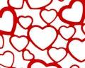 Red and white heart set background backdrop wedding valentine love romance design