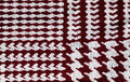 Red and white houndstooth pattern textile background Royalty Free Stock Photo