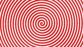 Red and white hypnotic circle Royalty Free Stock Photo
