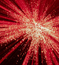 Abstract Red and White Light Burst Royalty Free Stock Photo
