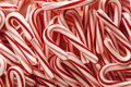 Red and White Mini Candy Canes Royalty Free Stock Photo