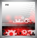 Red and white modern futuristic background Royalty Free Stock Images