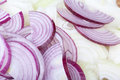 Red and white onions Stock Images