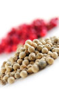 Red and white peppercorns Royalty Free Stock Image