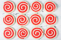 Red and White Pinwheel Cookies Royalty Free Stock Photo