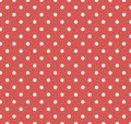 Red with white polka dots Stock Photos