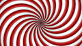 Red and white rotating hypnosis spiral Royalty Free Stock Photo