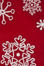 Red and White Snowflake Background Stock Images